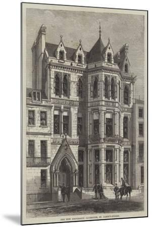 The New University Clubhouse, St James's-Street--Mounted Giclee Print