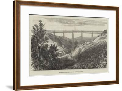 The Meldon Viaduct, Devon and Cornwall Railway--Framed Giclee Print