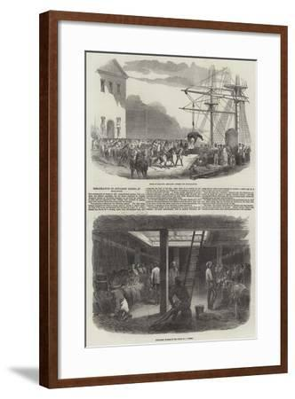 Embarkation of Artillery Horses at Woolwich--Framed Giclee Print