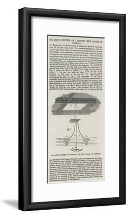 Dr Reid's System of Lighting the House of Commons--Framed Giclee Print