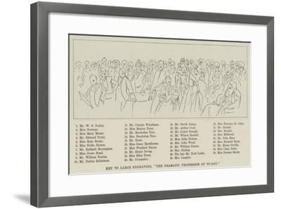 Key to Large, The Dramatic Profession of To-Day--Framed Giclee Print