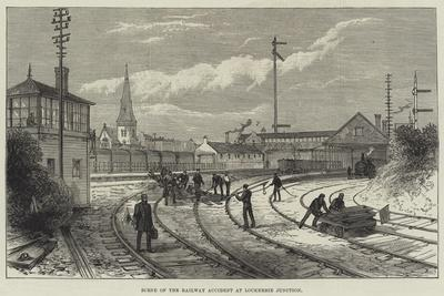 Scene of the Railway Accident at Lockerbie Junction--Framed Giclee Print