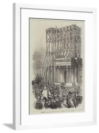 Arrival of the Wellington Statue at the Arch--Framed Giclee Print