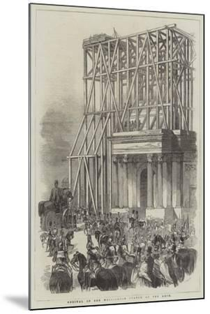 Arrival of the Wellington Statue at the Arch--Mounted Giclee Print