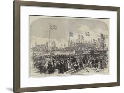 Opening of the New Docks at West Hartlepool--Framed Giclee Print