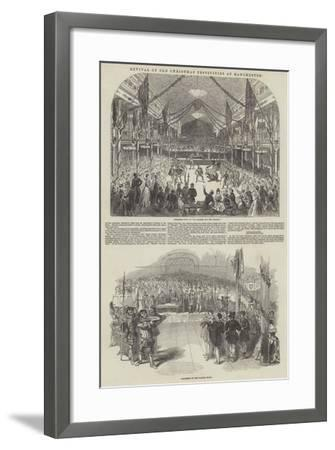 Revival of Old Christmas Festivities at Manchester--Framed Giclee Print