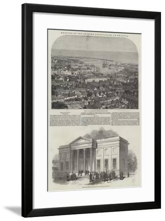 Meeting of the British Association, at Swansea--Framed Giclee Print