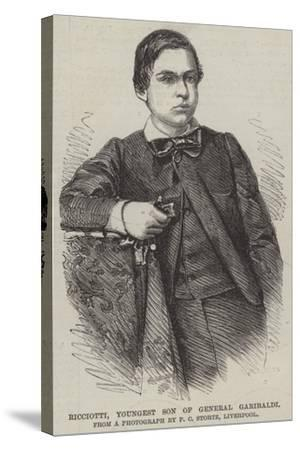 Ricciotti, Youngest Son of General Garibaldi--Stretched Canvas Print
