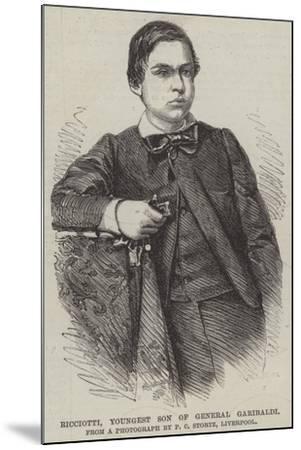 Ricciotti, Youngest Son of General Garibaldi--Mounted Giclee Print