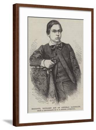 Ricciotti, Youngest Son of General Garibaldi--Framed Giclee Print