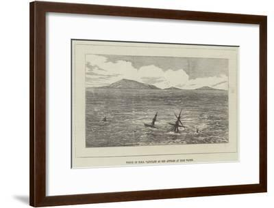 Wreck of HMS Vanguard as She Appears at High Water--Framed Giclee Print