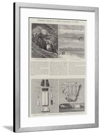 Pharaoh's Palace of Daphnae (Tahpanhes), in Egypt--Framed Giclee Print