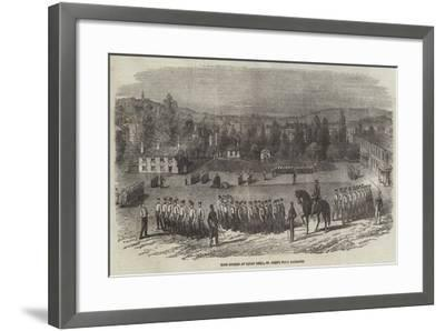 Foot Guards at Squad Drill, St John's Wood Barracks--Framed Giclee Print