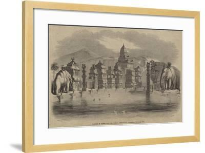 Temples of Elora, at the Surrey Zoological Gardens--Framed Giclee Print