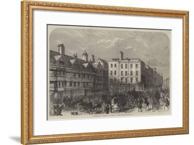 Middle-Row, Holborn, in Course of Demolition--Framed Giclee Print