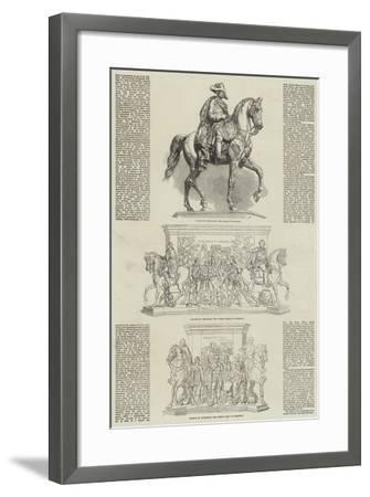 Statue of the Frederick the Great at Berlin--Framed Giclee Print