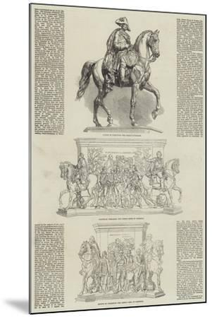 Statue of the Frederick the Great at Berlin--Mounted Giclee Print