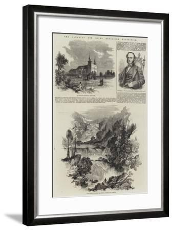 The Canadian Red River Exploring Expedition--Framed Giclee Print