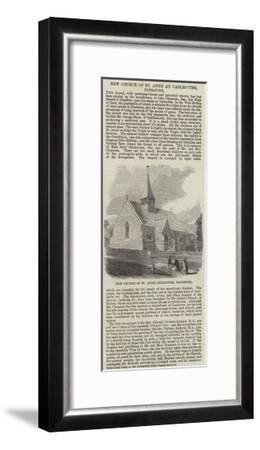 New Church of St Anne at Carlecotes, Penistone--Framed Giclee Print