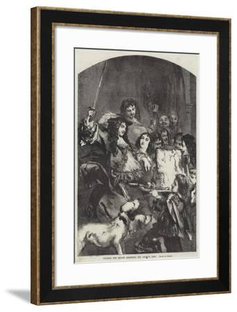 Charles the Second Knighting the Loin of Beef--Framed Giclee Print