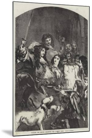Charles the Second Knighting the Loin of Beef--Mounted Giclee Print