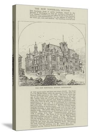 The New Townhall, Buxton, Derbyshire--Stretched Canvas Print