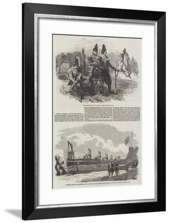 Persian Soldiers in the Russian Service--Framed Giclee Print