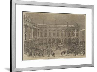 Snowballing Upon the Liverpool Exchange--Framed Giclee Print