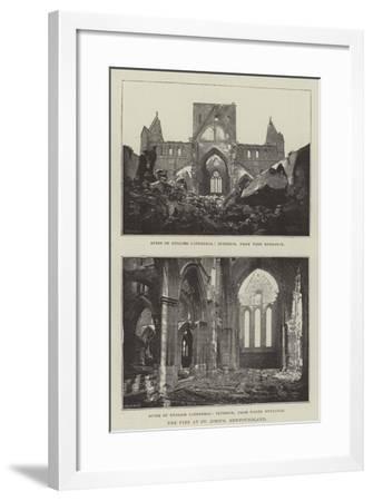 The Fire at St John's, Newfoundland--Framed Giclee Print
