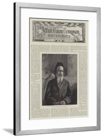 Alfred, Baron Tennyson, Poet Laureate--Framed Giclee Print