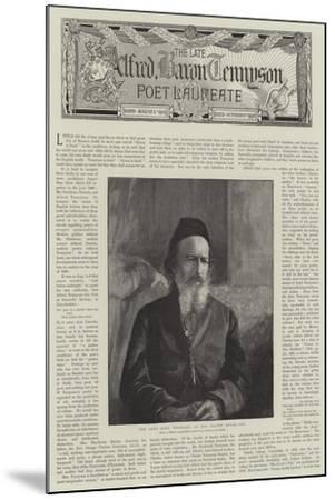 Alfred, Baron Tennyson, Poet Laureate--Mounted Giclee Print