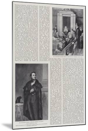 The Life of William Ewart Gladstone--Mounted Giclee Print