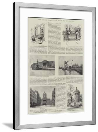 The Prime Minister's Visit to Liverpool--Framed Giclee Print