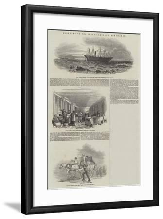 Sketches of the Great Britain Steam-Ship--Framed Giclee Print