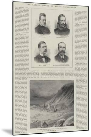 The Latest Stages of Arctic Exploration--Mounted Giclee Print