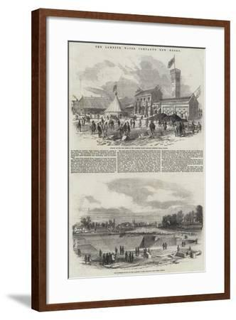 The Lambeth Water Company's New Works--Framed Giclee Print