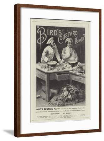 Advertisement, Bird's Custard Powder--Framed Giclee Print