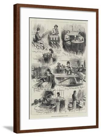 Straw-Plait and Bonnet-Making at Luton--Framed Giclee Print