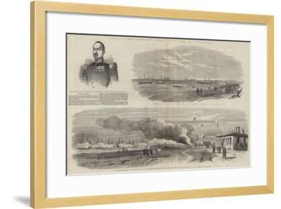 The Bombardment and Capture of Kinburn--Framed Giclee Print