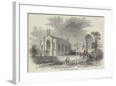 Funeral at the Catholic Church at Barrhead--Framed Giclee Print