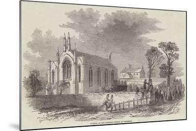 Funeral at the Catholic Church at Barrhead--Mounted Giclee Print