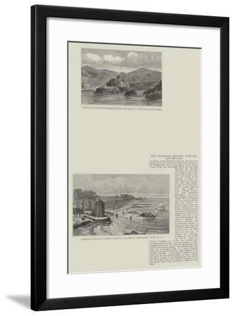 The Telephone Between Scotland and Ireland--Framed Giclee Print