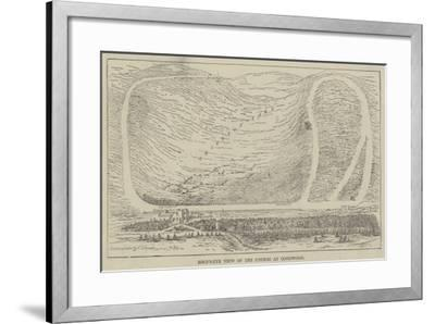 Bird'S-Eye View of the Course at Goodwood--Framed Giclee Print