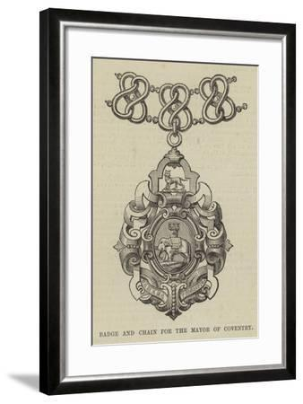 Badge and Chain for the Mayor of Coventry--Framed Giclee Print