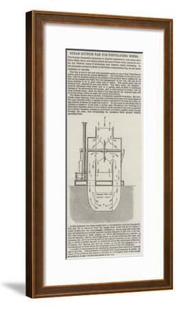 Steam Suction Fan for Ventilating Mines--Framed Giclee Print
