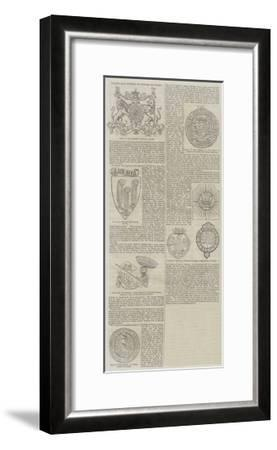 Badges and Mottoes of Princes of Wales--Framed Giclee Print