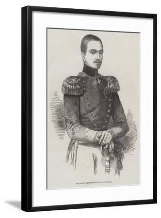 His Royal Highness the Duke of Genoa--Framed Giclee Print