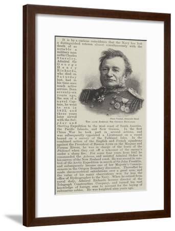The Late Admiral Sir George Richards--Framed Giclee Print