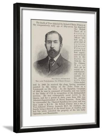 The Late Vice-Admiral Sir O'Brien Fitzroy--Framed Giclee Print