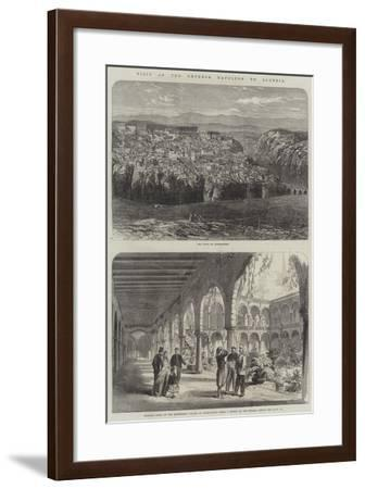 Visit of the Emperor Napoleon to Algeria--Framed Giclee Print